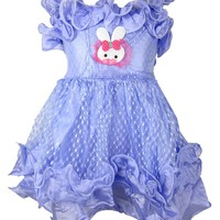 Buenos Ninos Baby Girls Ruffle Collar Chiffon Party Dress