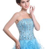Dresstells Prom Dress Short Satin Evening Gown for Juniors