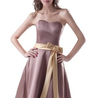 Dresstells Short Knee-length Bridesmaid Evening Dress
