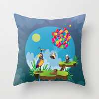 UP Throw Pillow by Maria Jose Da Luz