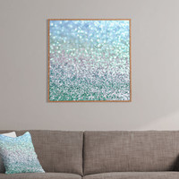 Lisa Argyropoulos Blue Mist Snowfall Framed Wall Art