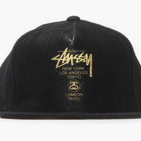 World Tour Leather Ball Cap (Black)