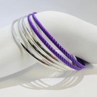Set of 5 - Colored Bangles Bracelet