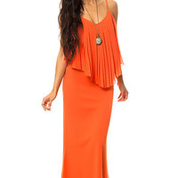 The Chaac Maxi Dress in Blood Orange