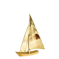 High Street Market - Decorative Brass Sailboat