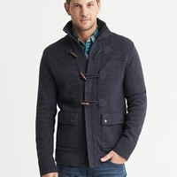 Navy Toggle Sweater Jacket