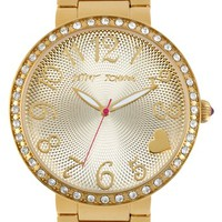 Betsey Johnson Textured Dial Bracelet Watch, 43mm | Nordstrom