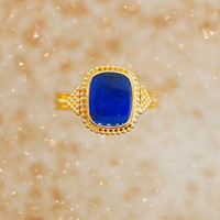 Vintage Lapis Ring - 22K Yellow Gold