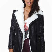 Tribeca Faux Leather Shearling Jacket