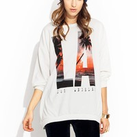 Keep-Palm-In-LA-Oversized-Sweatshirt IVORY - GoJane.com