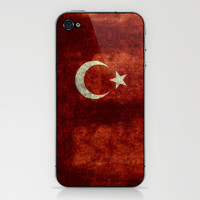 The National flag of Turkey - Vintage version iPhone & iPod Skin by LonestarDesigns2020 - Flags Designs +