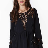 Nasty Gal Dark Mood Lace Top