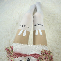 Fashion Women Sexy Pantyhose Design Printed Cat Tattoo Stockings Tights Leggings