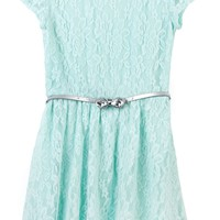 Amy Byer 7-16 Lace Belted Dress