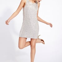 Sequined Statement Shift Dress