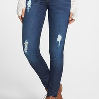 STS Blue Destroyed Skinny Jeans (Dark) (Juniors) | Nordstrom