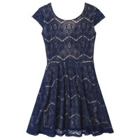 Xhilaration® Junior's Open Back Lace Dress - Assorted Colors