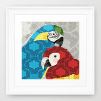 Macaws Framed Art Print by Lorri Leigh Art