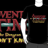 Adventure Time Logo Black T-shirt