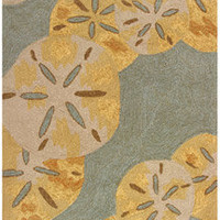 Sand Dollars By The Sea Area Rug