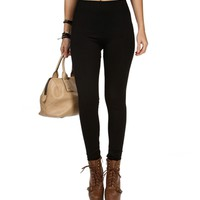 Black Fleece Leggings