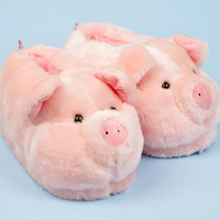 Pink Pig Animal Slippers | Animal Slippers | BunnySlippers.com