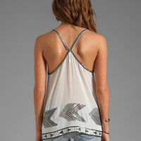 BB Dakota Moya Fletcher Sequin CDC Top in Dirty White
