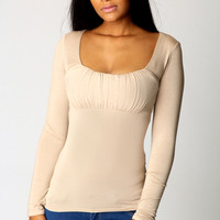 Harriet Ruched Front Top
