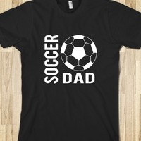 Skreened Soccer Dad Black Tee