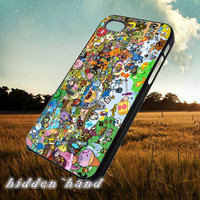 Adventure time All Stars All Characters,Case,Cell Phone,iPhone 5/5S/5C,iPhone 4/4S,Samsung Galaxy S3,Samsung Galaxy S4,Rubber,13/07/14/Ar