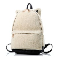 Casual Cat Ear Winter Backpack
