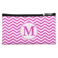 NEON MONOGRAM CHEVRON MAKEUP BAGS