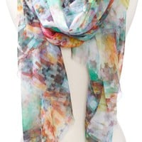 Echo Design Women's Digital Pixels Oversized Wrap Scarf