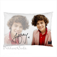 """Harry Styles 1D One Direction on Pillow Case, Pillow Case Cover Bedding Gift Idea 30"""" x 20"""""""