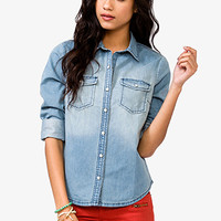Sandblasted Chambray Shirt