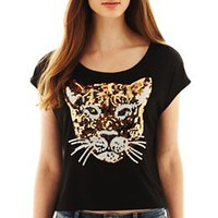 Sequin Tiger Critter Tee