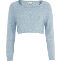 BLUE CROPPED JUMPER