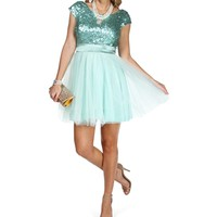 Pre-Order Taima-Mint Short Prom Dress