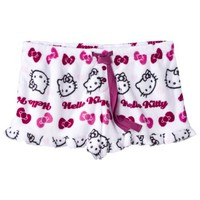 Hello Kitty Juniors Plush Sleep Short - White