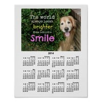 Golden Retriever Behind A Smile 2014 Calendar