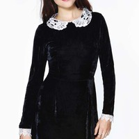 Wednesday Velvet Lace Dress