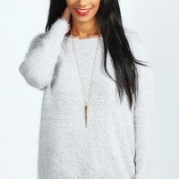 Hallie Oversized Feather Yarn Jumper