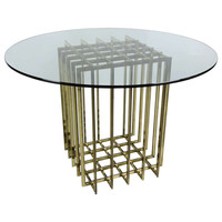 Pierre Cardin Brass Cage Form Dining Table Base