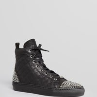 Le Silla Lace Up High Top Sneakers - Quilted Leather