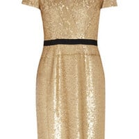 Burberry London Sequined wrap-effect dress – 60% at THE OUTNET.COM