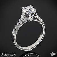 18k White Gold Verragio Dual Claw Diamond Engagement Ring