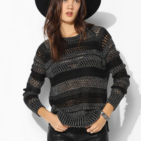 Sparkle & Fade Stripe Open-Stitch Sweater - Urban Outfitters