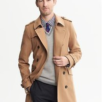 Camel Wool Belted Trench