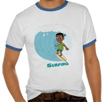 Boy surfer cartoon T-shirt