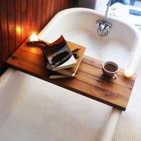 Wooden Tub Caddy - Natural